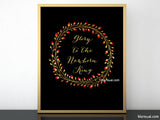 Glory to the newborn king, printable Christmas decoration