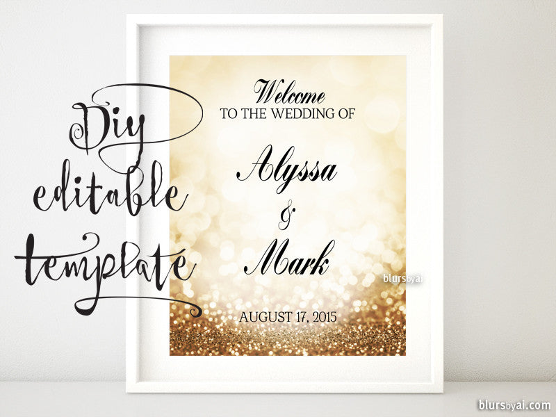 8x10 DIY Printable sign templates for Word Make your own – Sign Templates Word