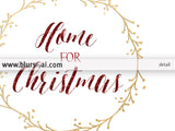 Home for Christmas, printable home decor