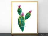 Boho chic cacti illustration printable #1
