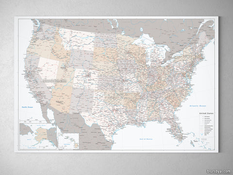 Map prints: highly detailed map prints & canvas