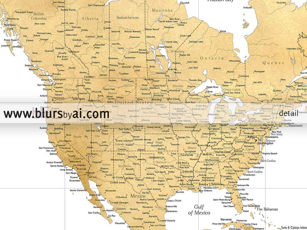 Custom quote highly detailed world map print gold world map rossie custom quote highly detailed world map print gold world map gumiabroncs Gallery
