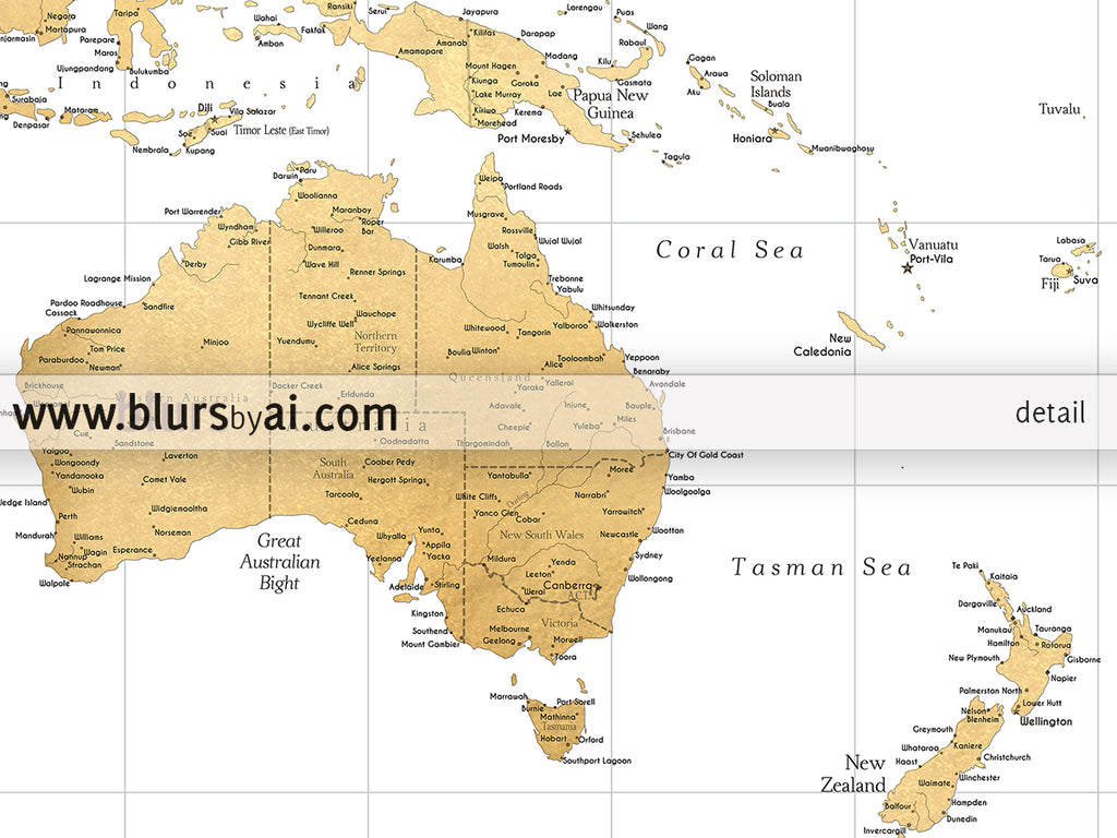 rossie custom quote highly detailed world map print gold world map