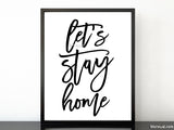 Let's stay home, scandinavian minimalist printable art (5)