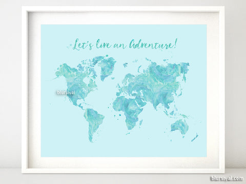 Maps & world maps: watercolor maps