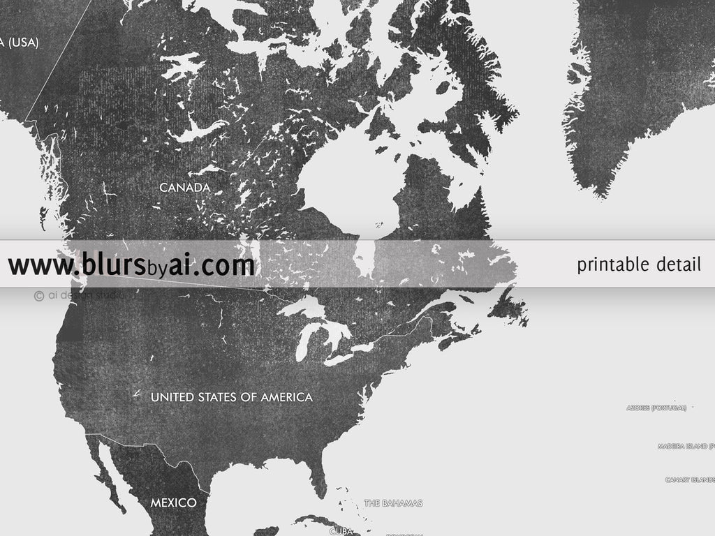 Personalized world map printable gray world map with countries in color combo custom quote printable gray world map with countries in distressed texture color combo gumiabroncs Gallery
