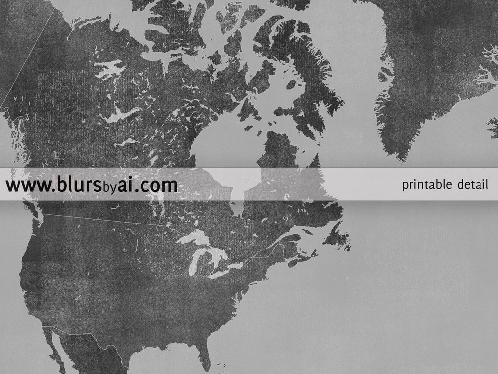 Personalized World Map Printable Gray World Map With Countries In