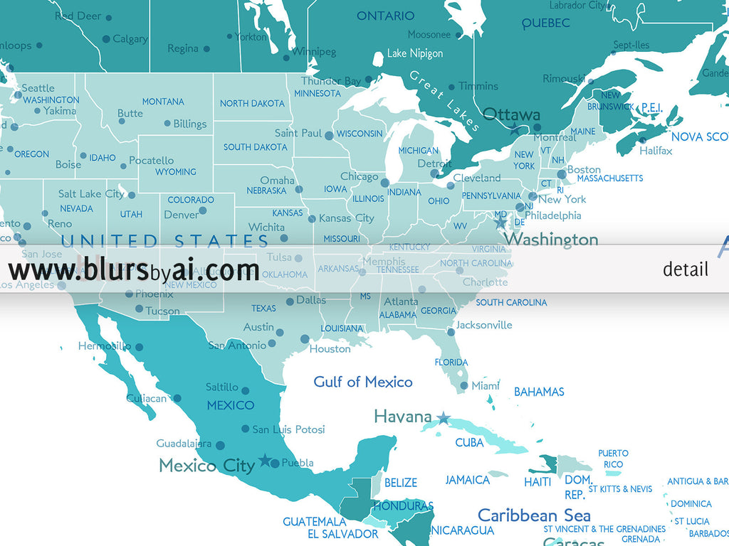 Custom quote printable world map with cities capitals countries