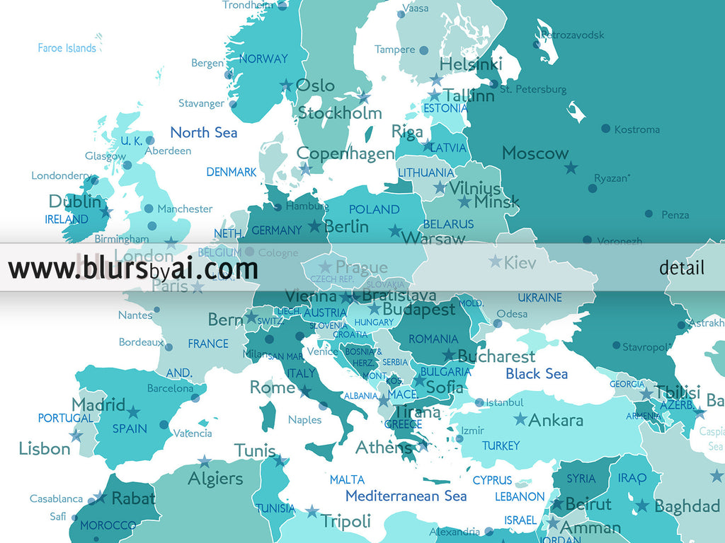 photograph about Printable Map of Norway titled Personalized quotation printable world wide map with towns, capitals, nations, US Says categorised. Shade mix: Angels
