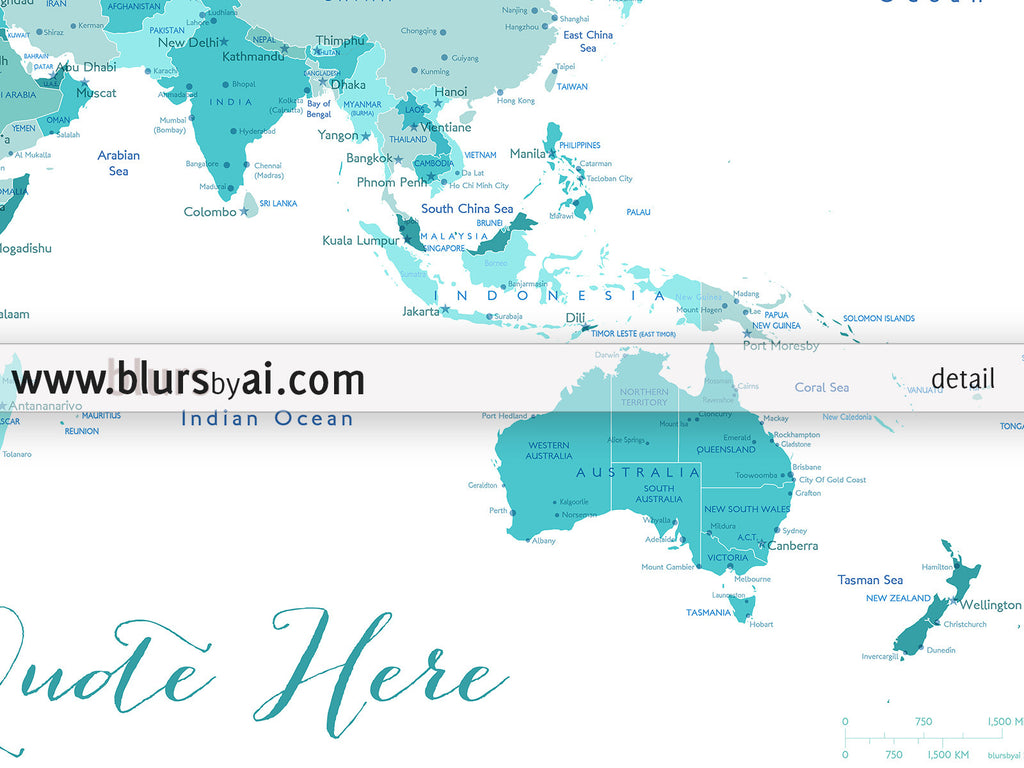 Custom Quote Printable World Map With Cities Capitals Countries - Us map color