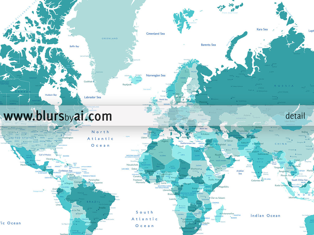 Custom Quote Printable World Map With Cities Capitals Countries - Printable us map with cities