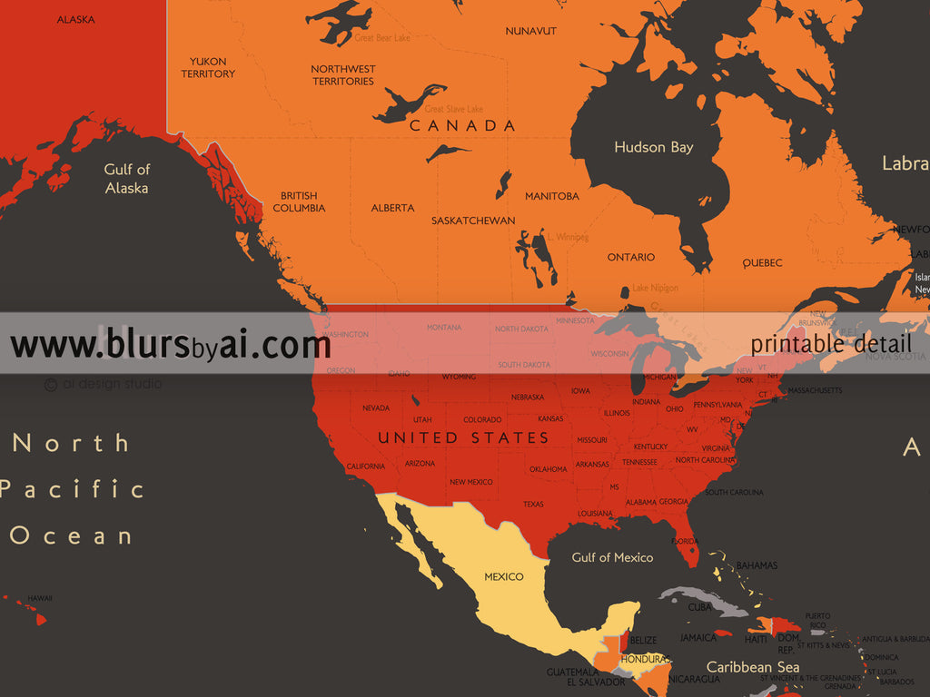 Map Of Canadian Provinces Custom quote world