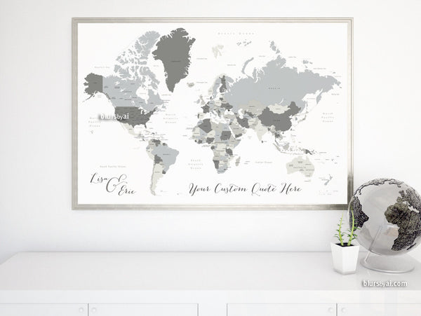 Custom Quote World Map With Countries Us States Canadian - Map-of-the-world-with-us-states