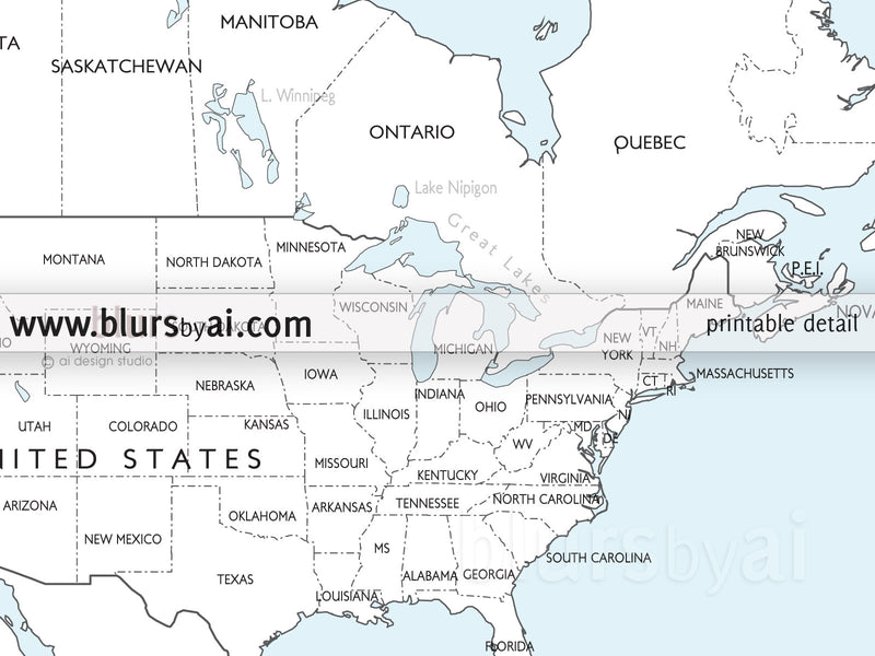 Coloring world map, printable world map with countries and ...