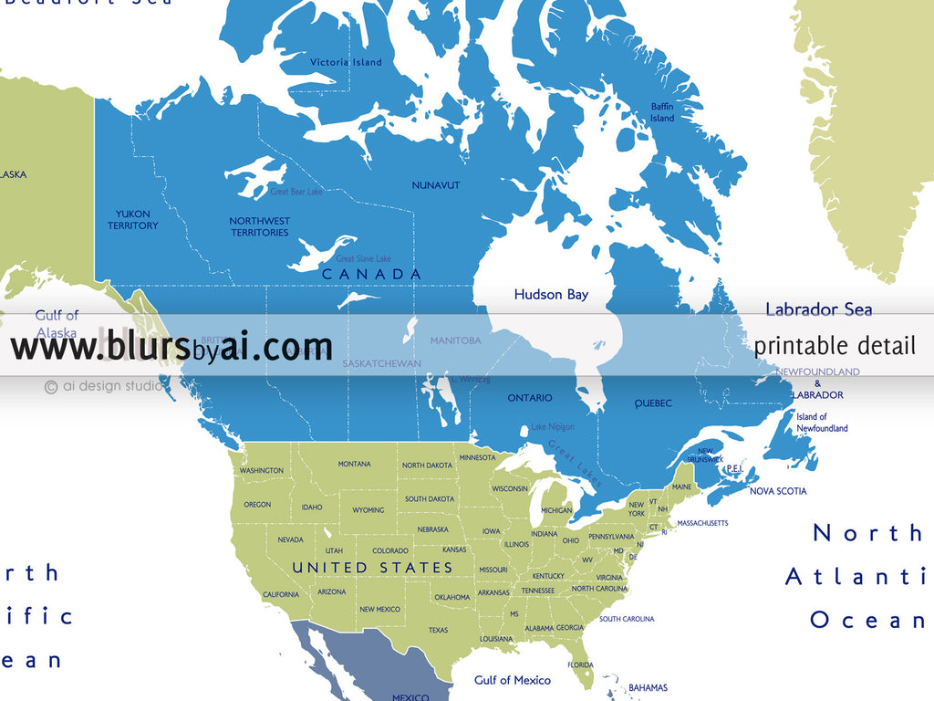 Printable personalized world map with countries and us states custom quote world map with countries and us states labeled gumiabroncs Choice Image