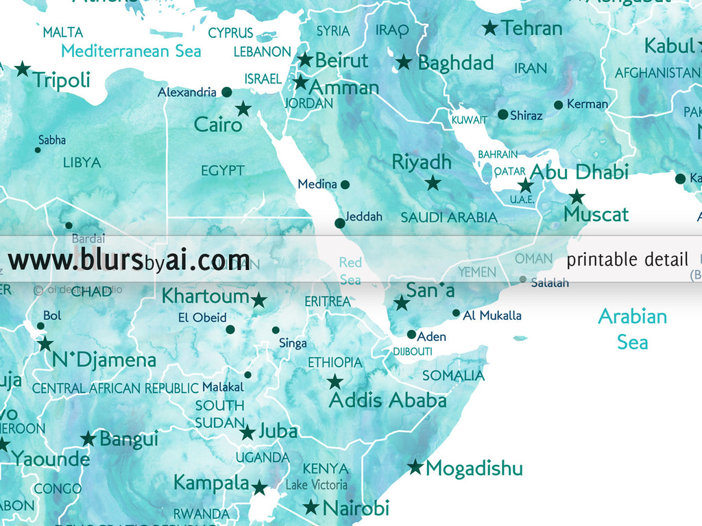 custom quote world map with cities capitals countries us states
