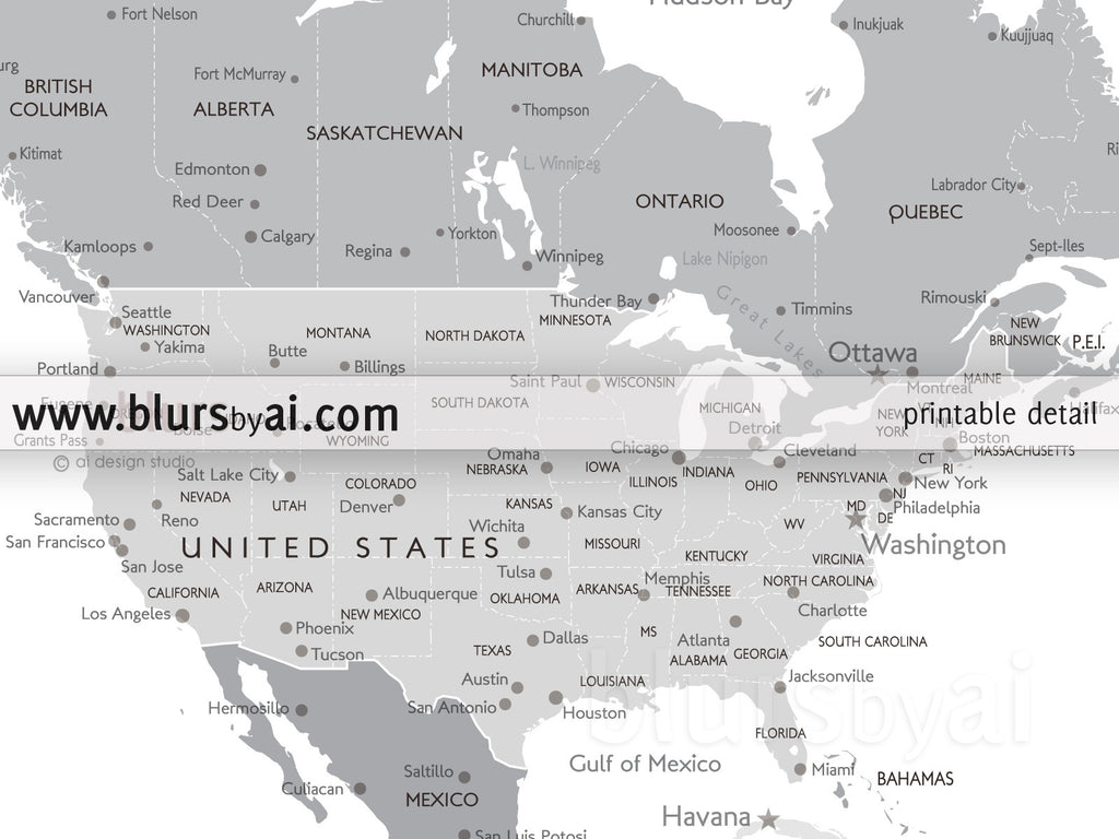 Personalized world map printable world map with cities capitals