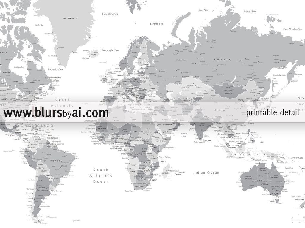 Printable matching world map and us map with cities in grayscale printable matching world map and us map with cities in grayscale 36x24 gumiabroncs Image collections