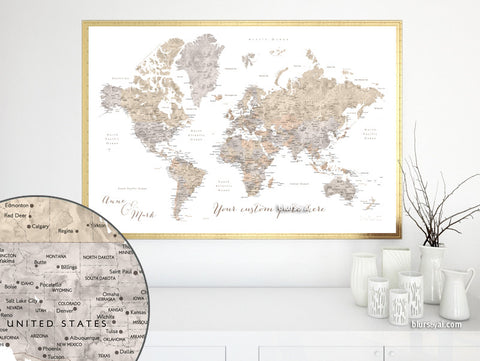 Maps & world maps: premade color maps