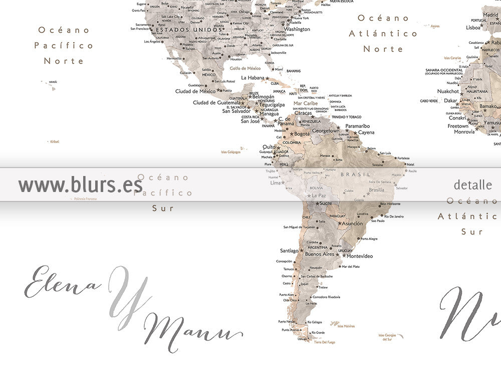 Personalized North America Map Highly Detailed North America - Cities us map
