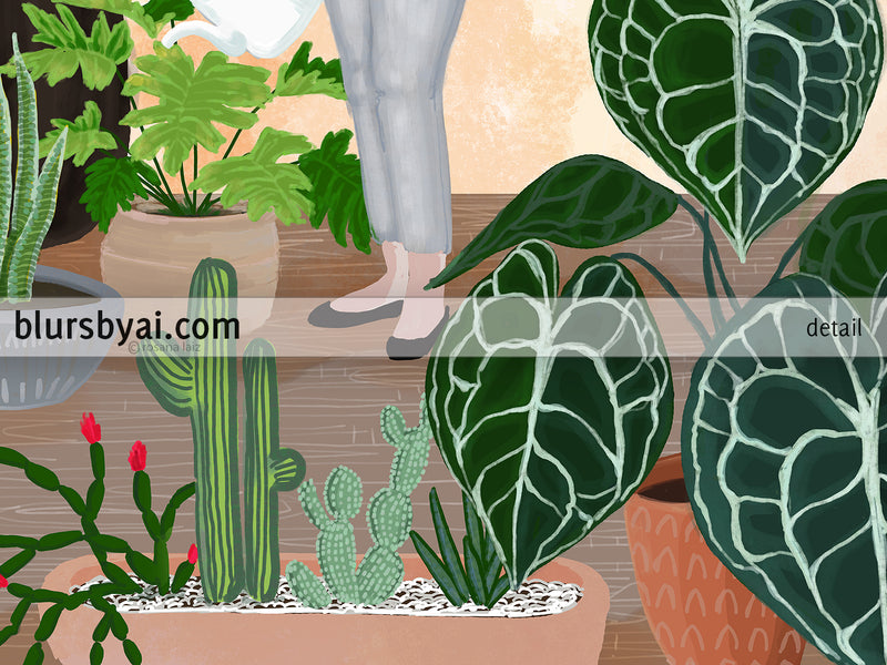"Printable illustration: ""My home jungle"" - Personal use"