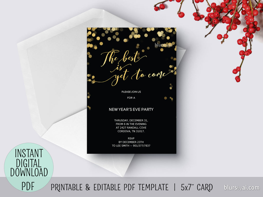 Editable pdf new years eve invitation template the best is yet editable pdf new years eve invitation template the best is yet to stopboris Image collections