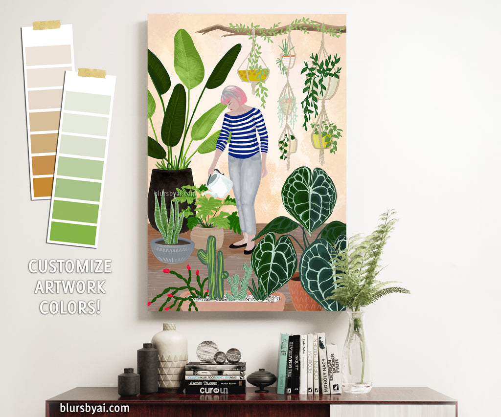 "Custom canvas print - ""My home jungle"""
