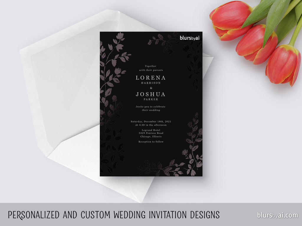A Blursbyai Printable Wedding Invitation Suite