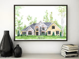 Printable house portrait