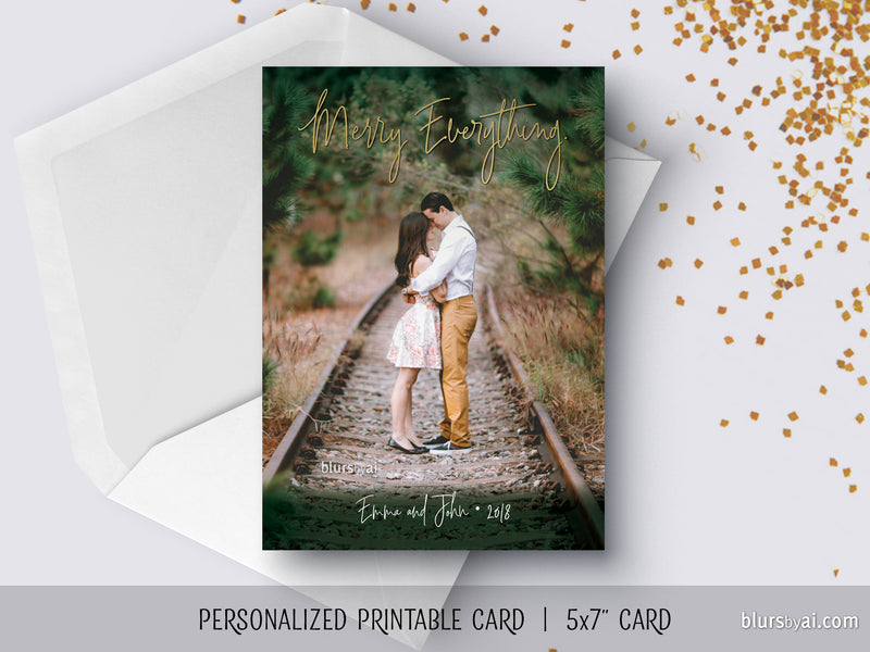 One of a kind printable Holiday Card