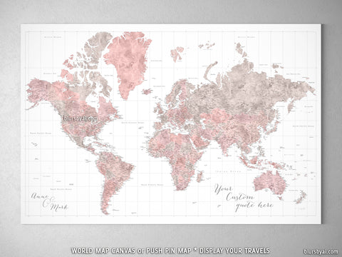 Extra large & highly detailed maps of the world