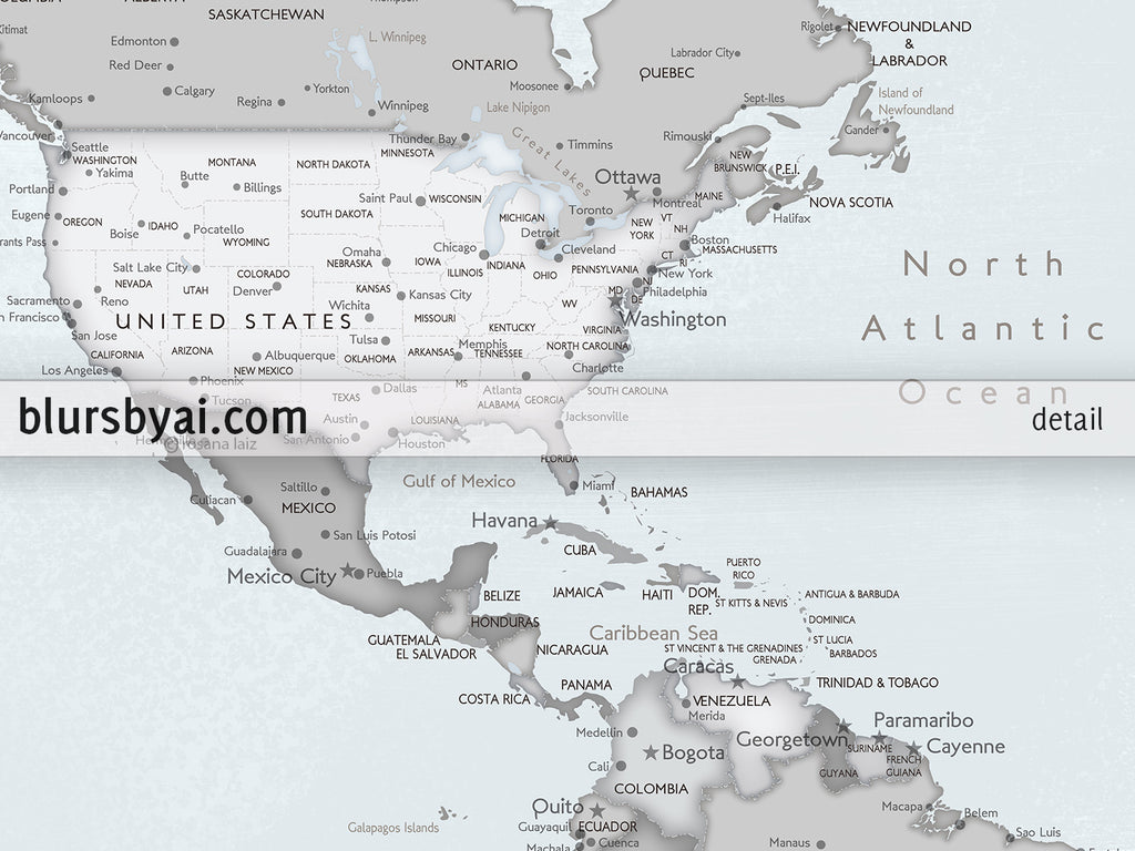 "Personalized PRINTABLE world map with cities, ""Darryl"", edit-it-yourself using CORJL - Instant download for PERSONAL USE"