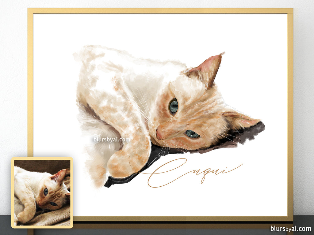 Printable pet portrait