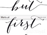 Custom quote in this style - calligraphy font with swashes