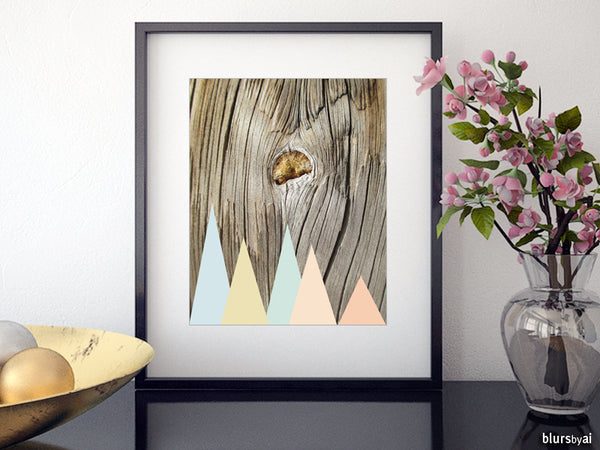Printable art: woodgrain and pastel geometry (2)