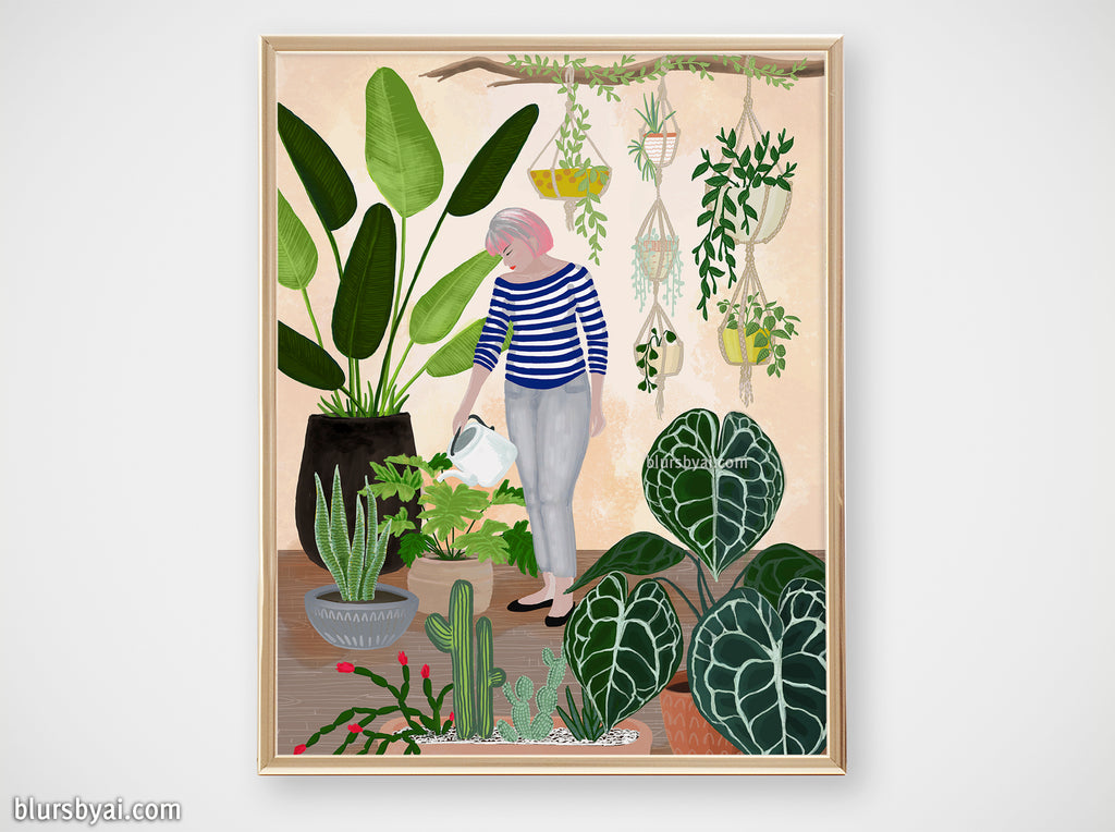 "Printable illustration: ""My home jungle"""