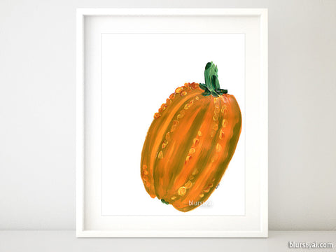 Pumpkin illustration printable fall decor