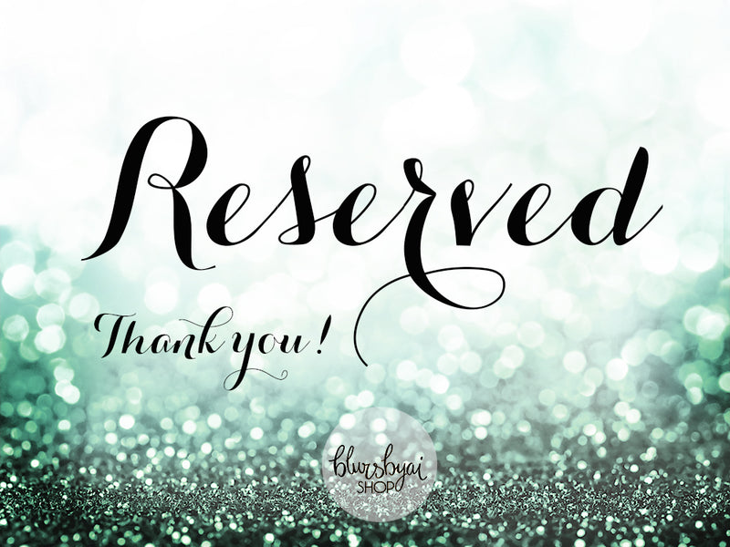 Reserved listing - Printable file