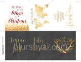 Printable Christmas and holiday mini cards or tags bundle by blursbyai