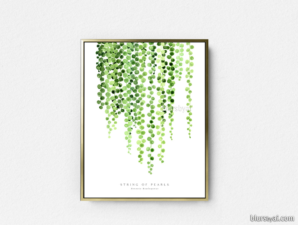 Printable string of pearls watercolor illustration - Personal use