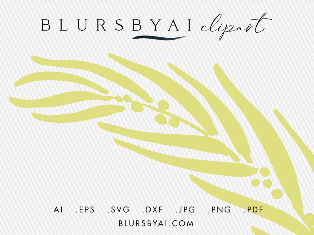 Vector eucalyptus silhouette wreaths, hand illustrated clipart and cuttable files (svg, eps, ai...)