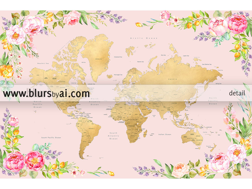 Printable floral world map with countries and states labelled large printable floral world map with countries and states labelled large 60x40 gumiabroncs Images