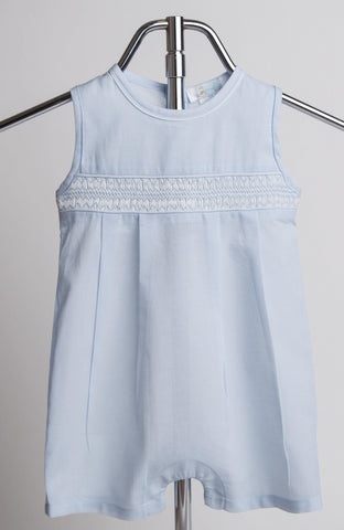 Classic Smocked Sleeveless One Piece