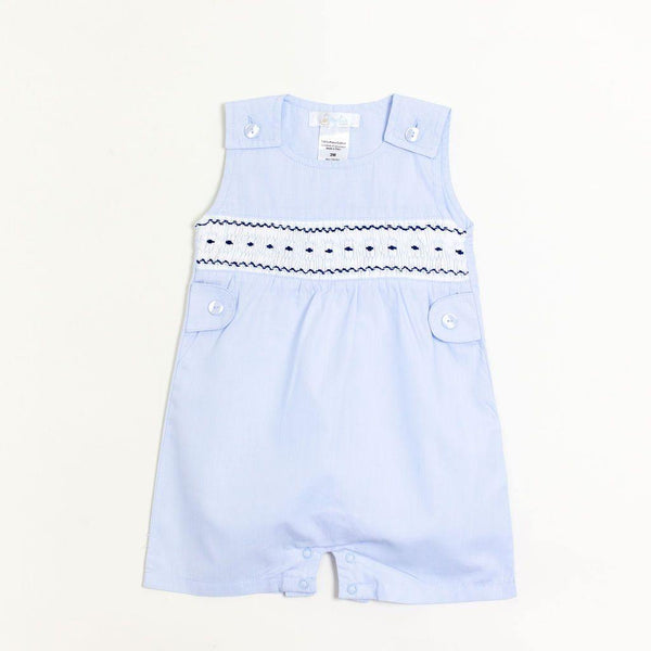 Navy and Blue Smocked Jon Jon
