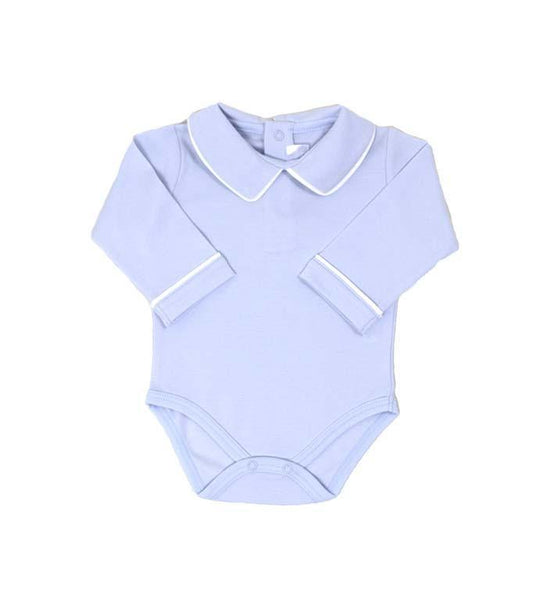 Pointed Collar Long Sleeve Onesie - Lt.Blue