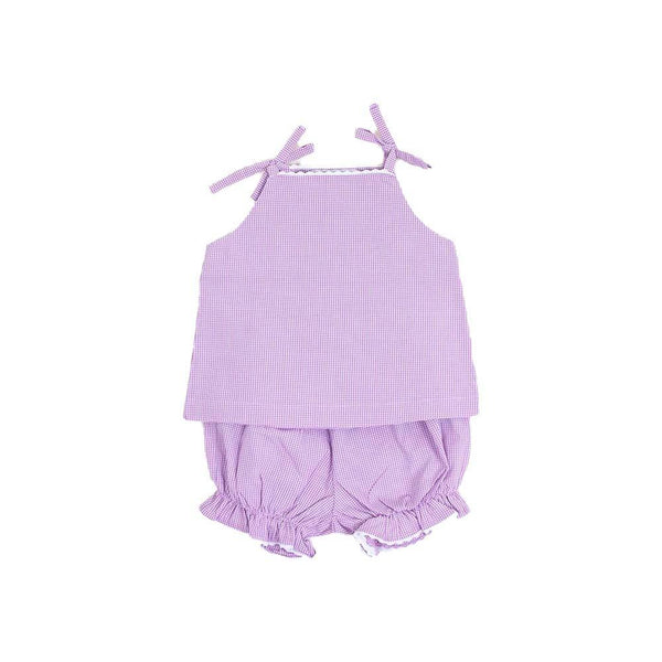Lilac Gingham Ric Rac Two Piece - Toddler Sizes