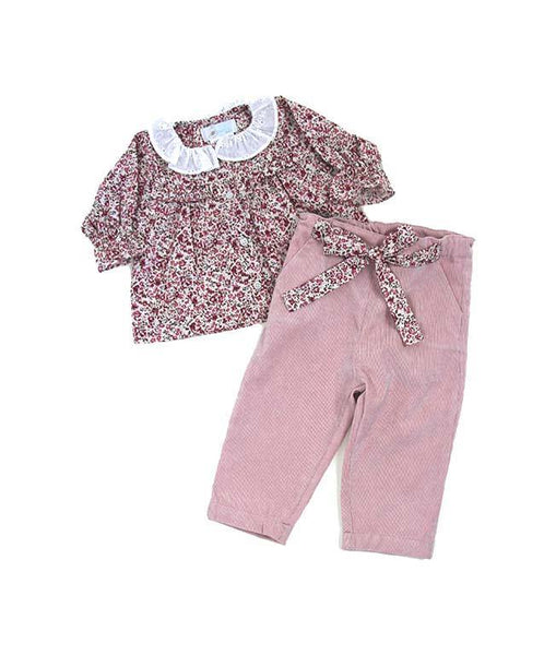Freesia Blouse Corduroy Pant Set