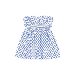 Blue Floral Smocked Day Dress - Toddler Sizes