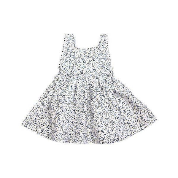 Blue Floral Pinafore Dress