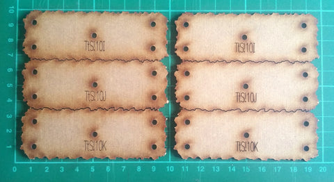 Bat Bases- 10cm grid, skirmish unit size (TtS!10, I/J/K x 6)